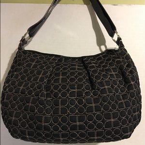 Kate Spade Canvas hobo handbag
